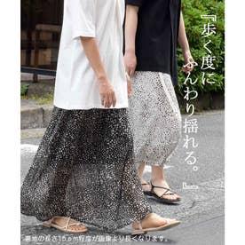 プリントスカート スカート 222043 (ブラック(ダルメシアン))