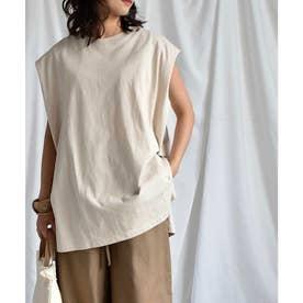 Frenchsleeve long T-shirt 24037 (ベージュ)