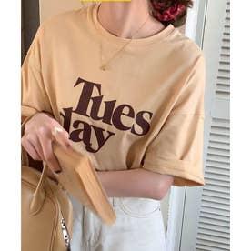 TuesdayロゴTシャツ (ベージュ)