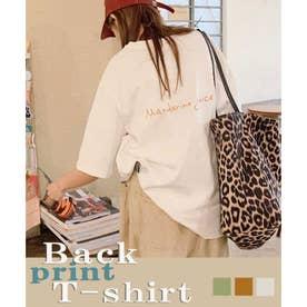 バックプリントTシャツ 24036 (ホワイト)