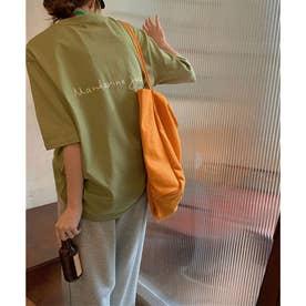 バックプリントTシャツ 24036 (グリーン)