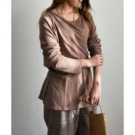 Rib layered pullover tops 24156 リブレイヤードプルオーバー (モカ)