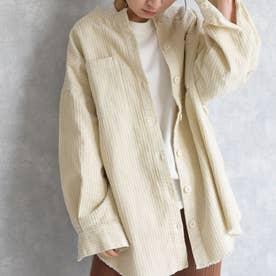 Corduroy shirt jacket 21080 コーデユ-イシャツ (アイボリー)