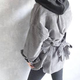 Corduroy shirt jacket 21080 コーデユ-イシャツ (グレー)