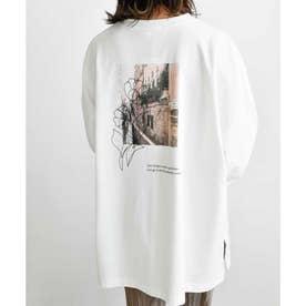 Line art&photo pllover 24011 LINEアート&フォトプルオーバー ロゴT (ホワイト)