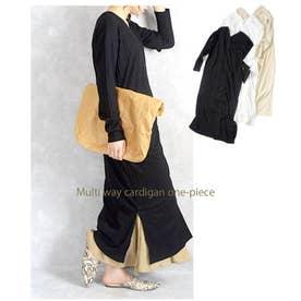 Multi way cardigan one-piece 29072 マルチウエィカーデイガン (ブラック)