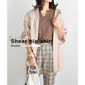 Sheer big shirt 24142 シアーシャツ (ベージュ)