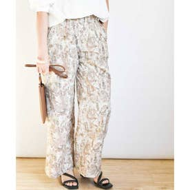 Watercolor print loose pants 22006 水彩画プリントルーズパンツ (ピンク)