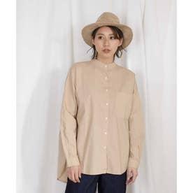 Band collar big shirt 23066 バンドカラービッグシャツ (ベージュ)