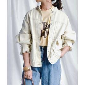 Candy sleeve twill jacket 21027 キャンデイスリーブツイルジャケット (アイボリー)