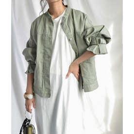 Candy sleeve twill jacket 21027 キャンデイスリーブツイルジャケット (カーキ)