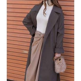 Long gown coat 21079 ガウンコート (ブラウン)