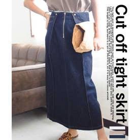 Cut off tight skirt 222042 カットオフタイトスカート (ワンウォッシュ)