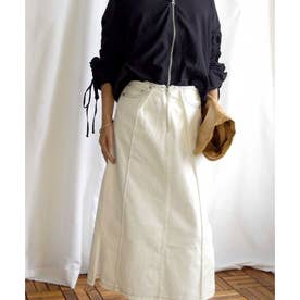 Cut off tight skirt 222042 カットオフタイトスカート (ホワイト)