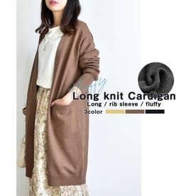 Long knit Cardigan 25011 ロングニットカーデイガン (ベージュ)