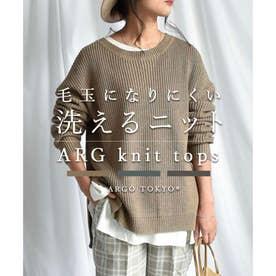 ARG knit tops 25008 ARGニット ニットトップス (ラテ)
