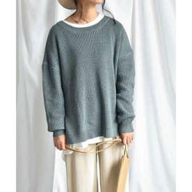 ARG knit tops 25008 ARGニット ニットトップス (ブルー)