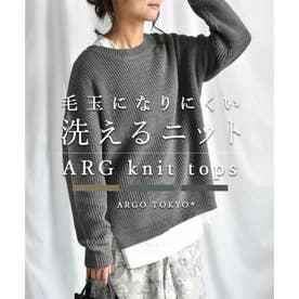 ARG knit tops 25008 ARGニット ニットトップス (グレー)
