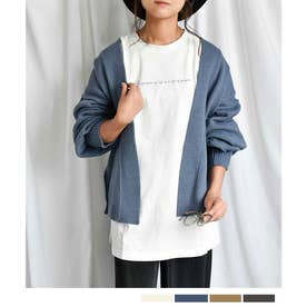 自宅で洗えるニットARG knit Cardigan 25010 ARGニットカーデイガン (ブルー(新色))