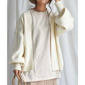 自宅で洗えるニットARG knit Cardigan 25010 ARGニットカーデイガン (オフホワイト)