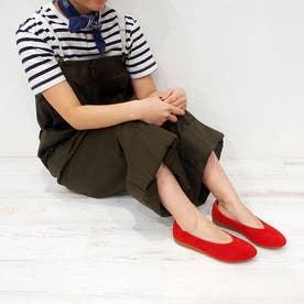 大人気定番!足が痛くならない靴・フラットシューズ (レッド)