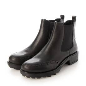 サイドゴアワークブーツ (ブラック)
