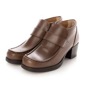 おでこ靴の新作・厚底モカローファー (グレー)