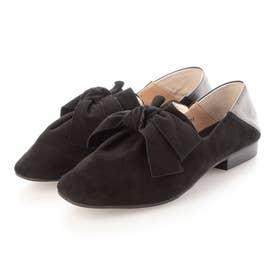 大人気定番!足が痛くならない靴・リボンバブーシュ (ブラックシルキ-)