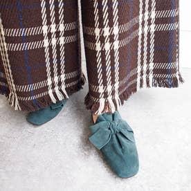 大人気定番!足が痛くならない靴・リボンバブーシュ (グリーン)