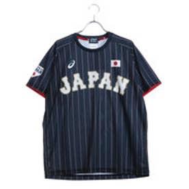 メンズ 野球 レプリカウェア ユニフォームTシャツ(V).サムライネイビー BAT713