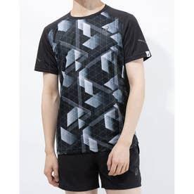 メンズ 陸上/ランニング 半袖Tシャツ ランニングクイツクM SSトツプ 2011B254 (ブラック)