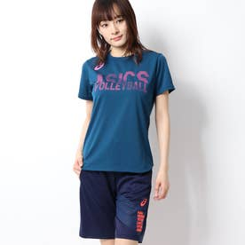 ASICS レディース バレーボール 半袖Tシャツ W'SグラフイツクSSトツプ 2052A133