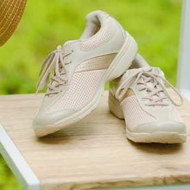 女性用 メッシュ素材使用 MS-L (ベージュメタリック)レディース 婦人靴