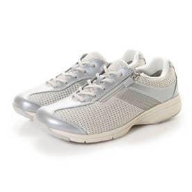 女性用 メッシュ素材使用 MS-L (シルバーメタリック)レディース 婦人靴
