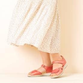 上質な天然皮革使用 女性用サンダル  SL レディース 婦人靴 足に優しいSHM機能搭載 (ピンクメタリック)