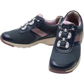 女性用スニーカー メッシュ素材使用 BOA(R)フィットシステム搭載 ひざに優しい アサヒメディカルウォークBO L017 婦人靴 レディース (ネイビー)