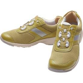 女性用スニーカー メッシュ素材使用 BOA(R)フィットシステム搭載 ひざに優しい アサヒメディカルウォークBO L017 婦人靴 レディース (オリーブ)