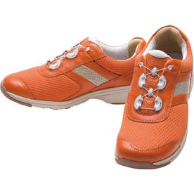 女性用スニーカー メッシュ素材使用 BOA(R)フィットシステム搭載 ひざに優しい アサヒメディカルウォークBO L017 婦人靴 レディース (オレンジ)