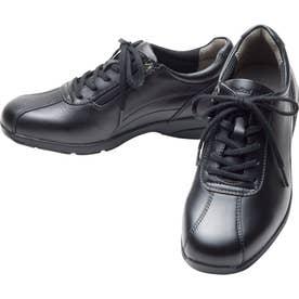 女性用スニーカー スタイリッシュモデル ひざに優しい アサヒメディカルウォークLE 婦人靴 レディース (ブラック)
