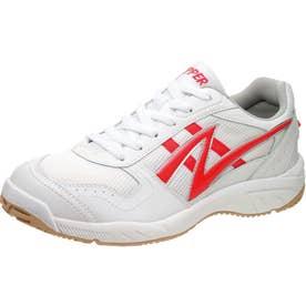 男女兼用 運動靴 アサヒグリッパー 37 (ホワイト/レッド) 体育 スポーツ