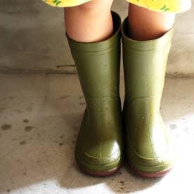 子供靴 長靴 雨靴 R304 (オリーブ) キッズシューズ レインシューズ