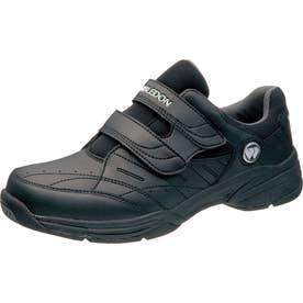 男性用スニーカー 面ファスナータイプ WM-6000 紳士靴 メンズ (ブラック)