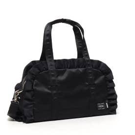 x PORTER RUFFLE 2WAY BOSTON BAG (BLACK)