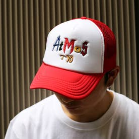 EMBROIDERY MIX LOGO MESH CAP (RED)