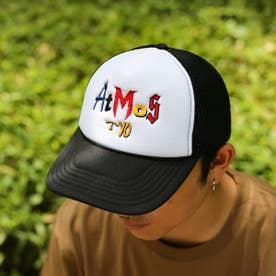 EMBROIDERY MIX LOGO MESH CAP (BLACK)