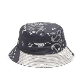 x ELEPHANT BRAND BANDANA BUCKET HAT (BLACK)