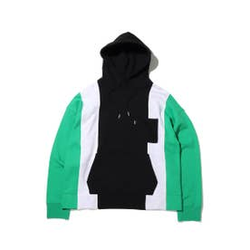 5PANEL SWEAT HOODIE (GREEN)