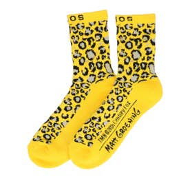 THE SIMPSONS x LEOPARD SOCKS (YELLOW)