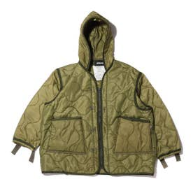 QUILTING LINER REMAKE JACKET (OLIVE)