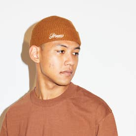 EMBROIDERY LOGO WATCH CAP (BROWN)